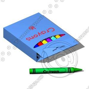 crayon box toys 3d model