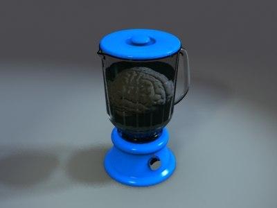 blender brain 3d model