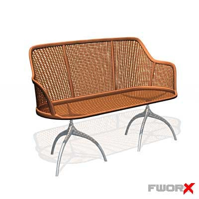 3d bench chair furniture model