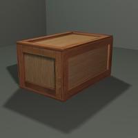 3d crate box model