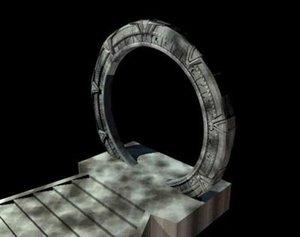 stargate portal gateway 3d model