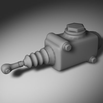 hydraulic master cylinder 3d 3ds