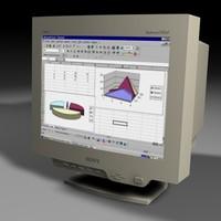 3d 19 sony monitor model