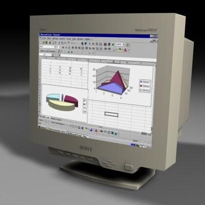 3d model 19 sony monitor