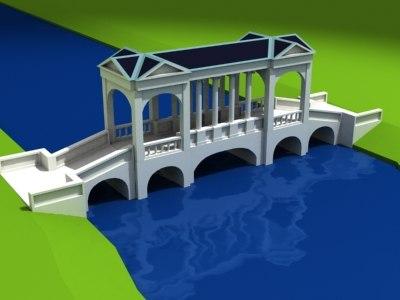maya palladian garden bridge