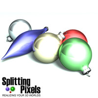 glass ornaments balls 3d dxf