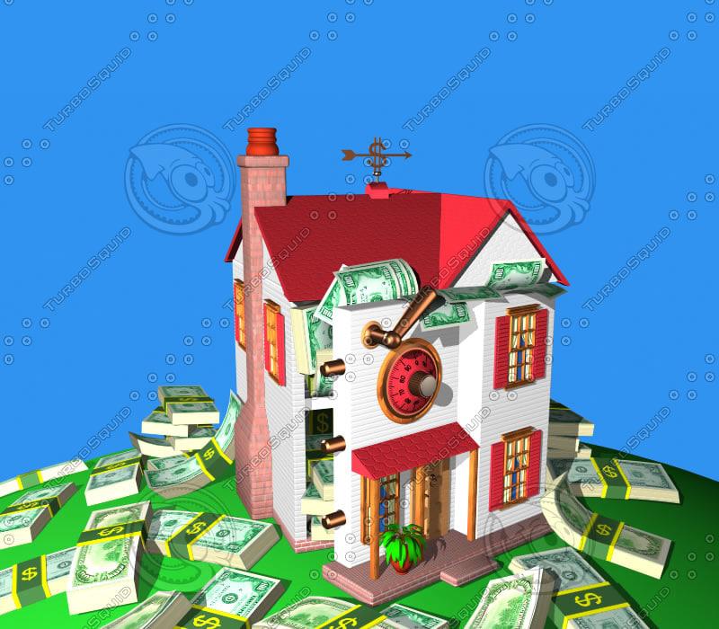 3d house safe model