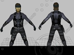 snake solid mgs2 3d model