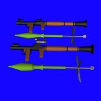 rpg-7 rocket rpg 3d model