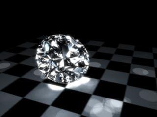 ideal diamond 3d model