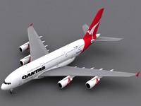 3d airbus a380-800 qantas a380