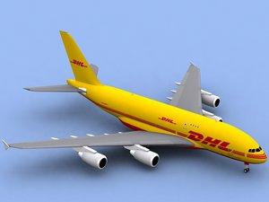 3d airbus a380-800 f dhl a380