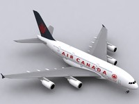 Airbus A380 Air Canada (old colors)