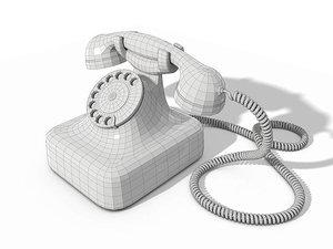 3d model classic phone