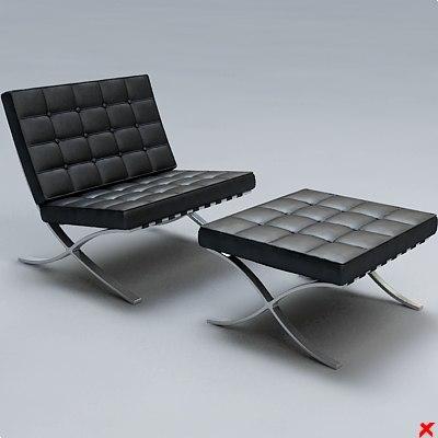3d model chair easy