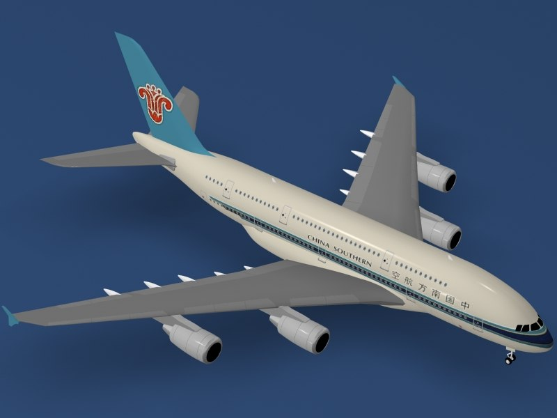 airbus a380-800 china southern 3d 3ds