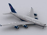 3ds max airbus a380-800 old colors