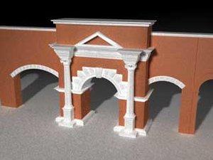 3d arch walls model