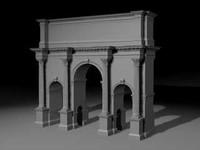 arch city walls obj