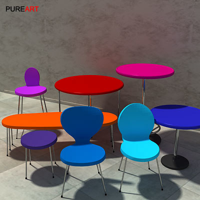 chairs tables 3d max