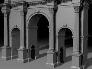 3d arch city walls