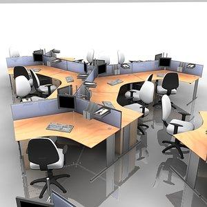 3d lwo office workstation