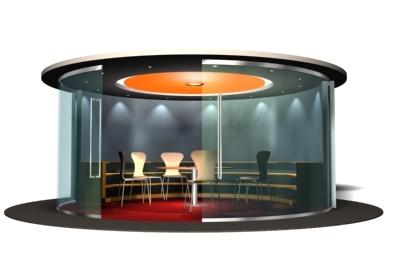 3d model office interior pod
