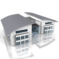 3d office building