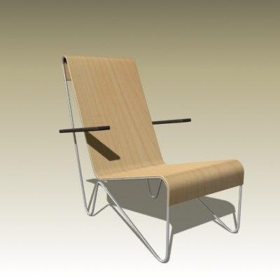gerrit rietveld chair 3d model