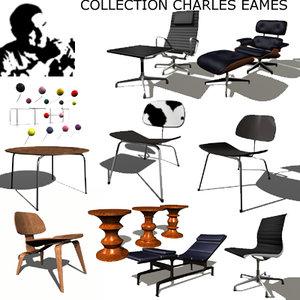 charles eames 3d model