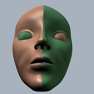 human head 3d dxf