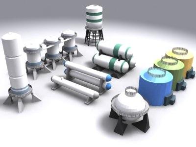 industrial silos 3ds