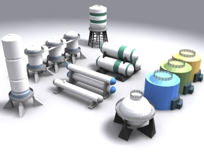 industrial silos 3ds