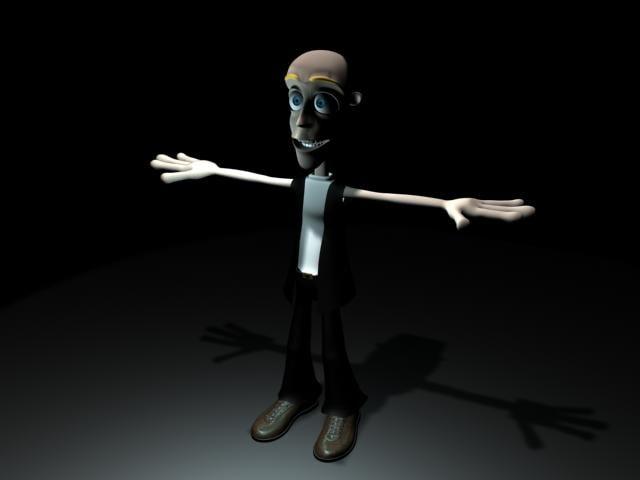 3d model of man cartoon