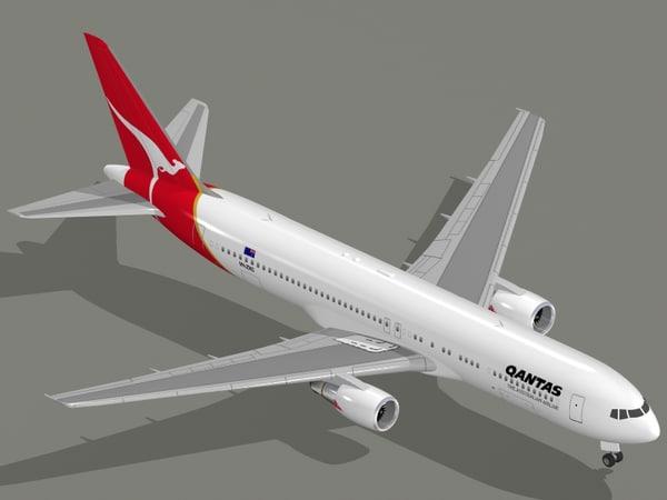 3d b 767-300 er qantas