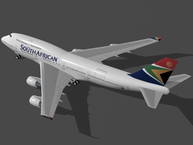 3ds b 747-400 south african