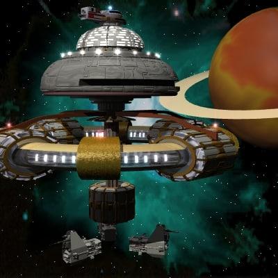 3d spacestation space station model