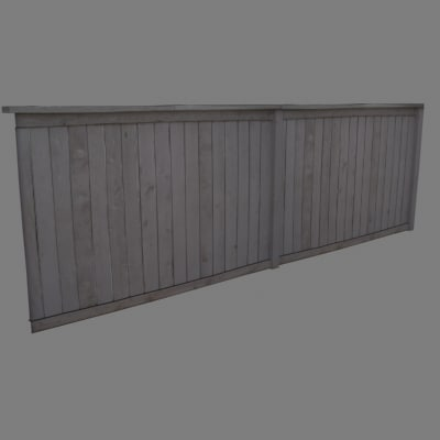 photo realistic fence 3d 3ds