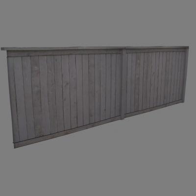 photo realistic fence 3d 3ds