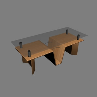 free table living 3d model
