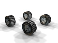 vechicle wheels 3d model