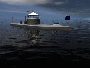 monitor ship 3d model