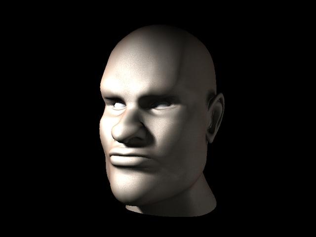 free lwo model hero head male