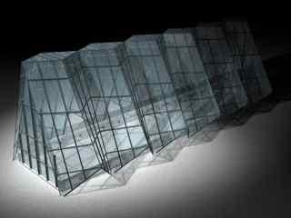 glass structure 3d c4d