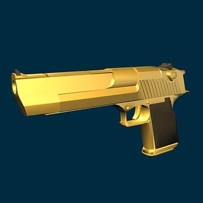 3d model desert eagle gun