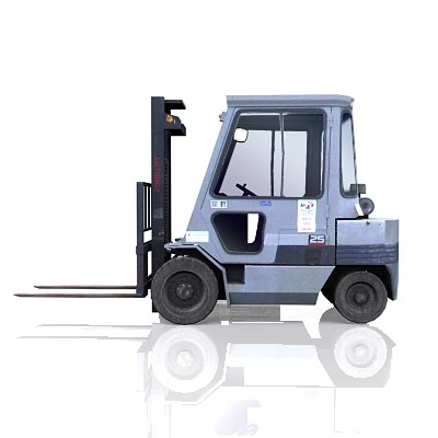 forklift industrial 3d model