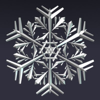 snowflake christals 3d dxf