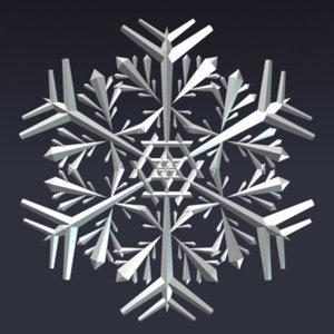 snowflake christals 3d 3ds