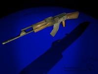 ak47 assault rifle 3d model