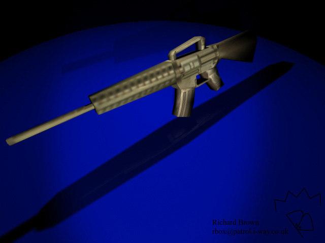 m16 assault 3d model